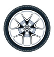 car tire and alloy wheel vector image vector image