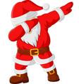 cartoon happy dancing santa claus vector image