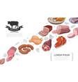 cartoon meat food concept vector image vector image