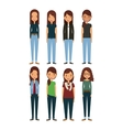 cartoon young womens vector image vector image