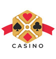 casino club isolated icon play card suits poker vector image vector image