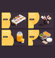 catering isometric concept vector image