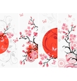 Cherry blossom set vector image vector image