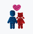 children icon love icon couple icon with heart vector image vector image