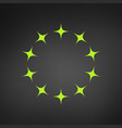 circle green star border logo template isolated vector image