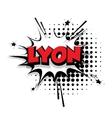 Comic text Lyon sound effects pop art