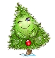 Cute little christmas tree vector image vector image