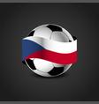 czech republic flag around the football vector image vector image