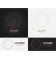 design templates in black grey and golden colors vector image vector image