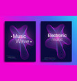 dynamic gradient shape music flyer design with vector image vector image