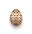easter egg 3d icon chocolate egg hearts vector image