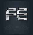 fe ferrum - element periodic table vector image