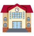 flat design of school building vector image