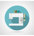 Flat icon for sewing machine vector image vector image