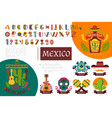 flat mexico elements composition vector image vector image