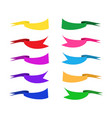 flat ribbon color set vector image vector image