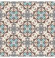 Floral Pattern Blue Brown Flower Weave Elements vector image vector image