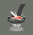Foot Stepped On Trap vector image vector image