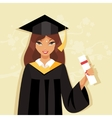 Girl graduate vector image