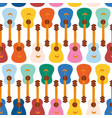 guitars seamless pattern repeating vector image vector image