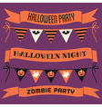 halloween banners and bunting collection vector image
