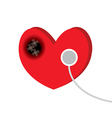 heart disease vector image vector image
