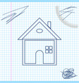 house line sketch icon isolated on white vector image vector image