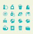 hygiene and cleaning icons washing antiseptic vector image vector image