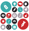 icons for business and money vector image vector image