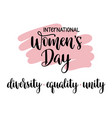 international womens day typography vector image