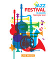 jazz festival poster2 vector image