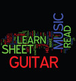 learn to read guitar sheet music text background vector image vector image