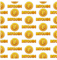 logo bitcoin seamless pattern vector image vector image