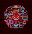 love neon concept vector image vector image