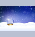 magic snowy winter background vector image vector image