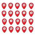 Mapping pins icons vector image