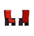 movie theater red chair vector image