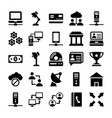 network and communication icons 9 vector image vector image