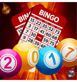 New Years bingo balls background vector image vector image