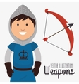 Old and antiques weapons vector image vector image