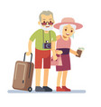 old people travelers on holiday smiling vector image vector image