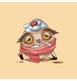 Owl is sick vector image