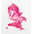 Painted animals eagle vector image