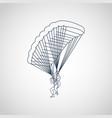 parachuting logo icon vector image vector image