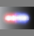 police headlights flares and siren at night vector image vector image