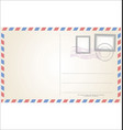 post card template vector image vector image