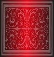 Red Floral Luxury Ornamental Pattern Background vector image vector image