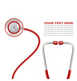 red stethoscope isolated on a white background vector image
