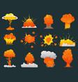 retro cartoon explosion icon set vector image