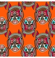 seamless pattern fabric with unusual tribal animal vector image vector image